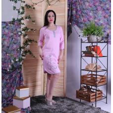 """Женская трикотажная ночная рубашка """"Кошка"""" р.44-56"""
