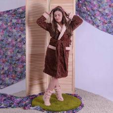"""Комплект махровый халат и сапожки """" Мокко"""" р.42-50"""