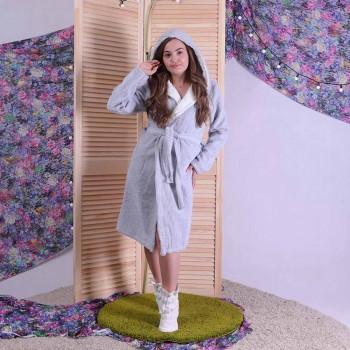 """Женский махровый хлопковый халат """"Cotton Lux"""" р. 42-50"""