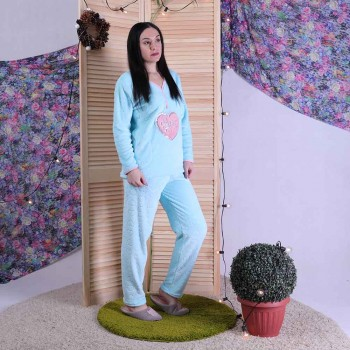 """Женская махровая пижама на кнопках """"Paris"""" р.44-56"""