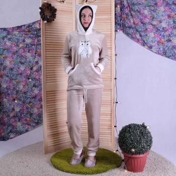 """Женская махровая пижама """"Сappuccino"""" р.44-52"""