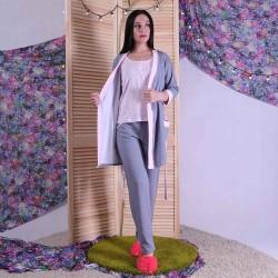 """Теплая тройка халат с пижамой """"Мирта"""" р.42-54"""