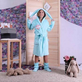 """Детский махровый халат на запах + сапожки """"Love"""" р.36-42"""