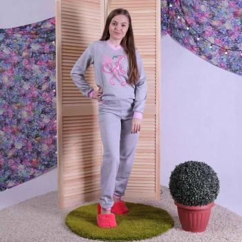 """Женская теплая пижама """"Пантерка"""" р. 42-54"""