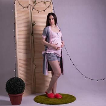 """Комплект халат с пижамой """"Лейсли2"""" р.42-54"""