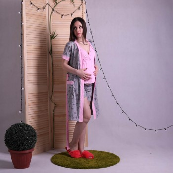 "Тройка пижама с халатом ""liana"" р.42-54"