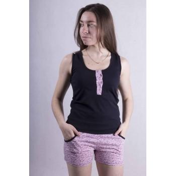 Женский трикотажный комплект майка с шортами р. 42-54