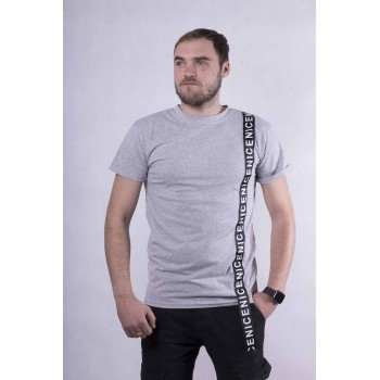 """Мужская стильная футболка """"Tape-gray""""  р. 44-52"""