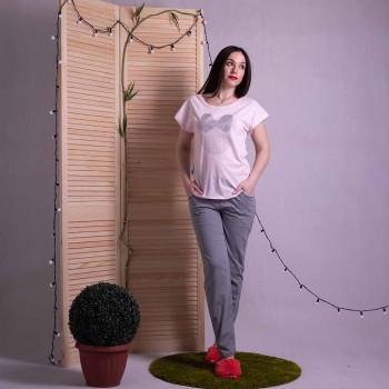 "Женская пижама футболка со штанами ""Minnie - Gray"" р. 42-54"
