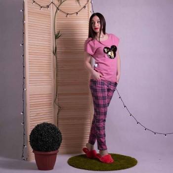 """Пижамный комплект футболка со штанами """"Rose"""" р. 42-54"""
