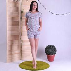 """Женская летняя пижама майка с шортами """"Mоuse2"""" р.42-54"""