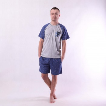 "Мужская летняя пижама футболка с шортами ""Форд"" 44-60"