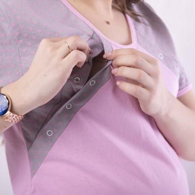 """Летняя пижама футболка кнопка +шорты  для кормящих мам """"Сальса-мишель"""" 46-54р."""