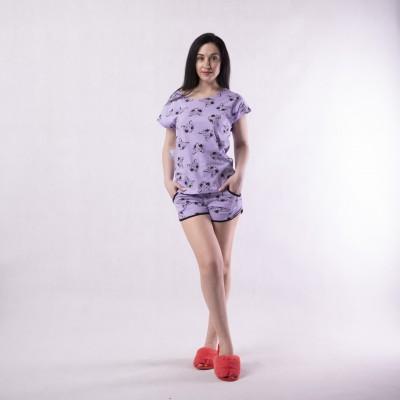 "Женская летняя пижама футболка с шортами ""Dream time"" 42-54р."