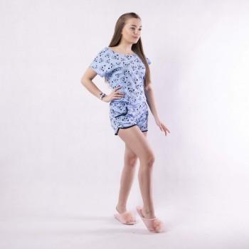 """Жіноча літня піжама футболка з шортами """"Dream time"""" 42-54р"""
