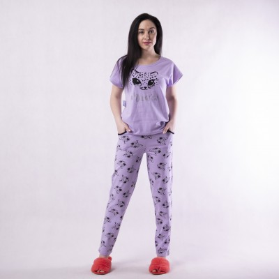 """Женская летняя пижама футболка со штанами """" Freands"""" 42-54р."""