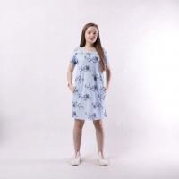 """Женское летнее платье """"Наташа-blu flowers"""" р.44-56"""