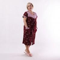 """Жіночий домашній комплект халат з нічної """"Бабка-Руслана"""" 50-62р."""