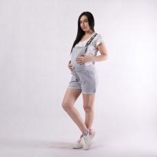 """Молодежный женский комбинезон-шорты подходит для будущих мам """"Love -комбинезон """"  р. 42-50р."""