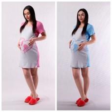"""Ночная сорочка для будущих и кормящих мам на кнопках  """"Mama-baby"""" 42-54р."""