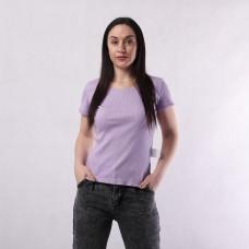 """Женская летняя футболка рубчик  """"Estet"""" 42-54р."""