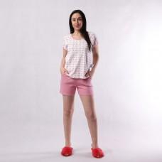 """Летняя женская пижама футболка+шорты рибана """"Соня"""" 42-54 р."""