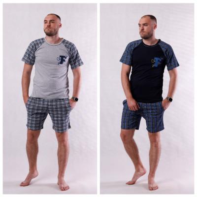 "Мужская летняя пижама футболка с шортами ""Форд-new"" 44-60"