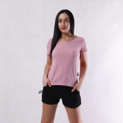 Женская летняя базовая  футболка рубчик   42-54р.