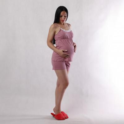 """Комплект топ с шортами для будущих и кормящих мам """"Стелла-кружево"""" 46-54р."""