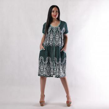 """Жіночий літній халат """"Італійка-new зелений"""" р.50-58"""