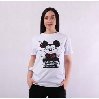 """Молодежная женская  стильная  футболка """"Микки Маус"""" р. 44-52"""