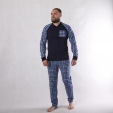 """Мужская теплая пижама """"Однотон""""  р.44-60 (Колір піжами в наявності темно синій, сірі є тільки в 60 р!)"""