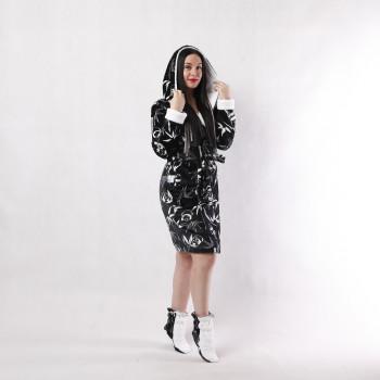 """Женский махровый халат с двойным капюшоном + сапожки  """" Панда"""" р.42-50"""