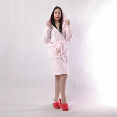 "Детский халат на запах ""Шиншилла-розовая"" р.34-42"