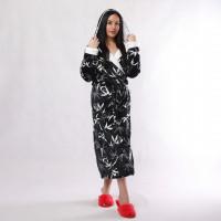 """Женский длинный махровый халат с двойным капюшоном """"Панда """" р.46-54"""