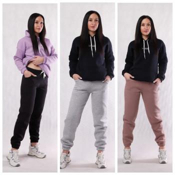 """Жіночі теплі спортивні штани начес  3х-нитка """"Тріо"""" 46-58р."""