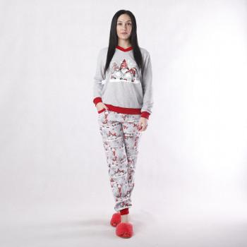 """Подростковая  теплая пижама начес """"Санта"""" 36-40р."""