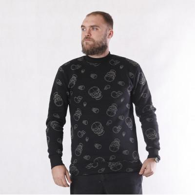 "Мужской теплый джемпер 3х-нитка начес ""Череп"" 44-52р."