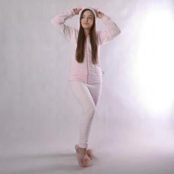 """Підлітковий домашній костюм """"Шиншила-рожевий"""" р.36-42"""