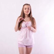 Женская трикотажная пижама топ+шорты р. 42-54