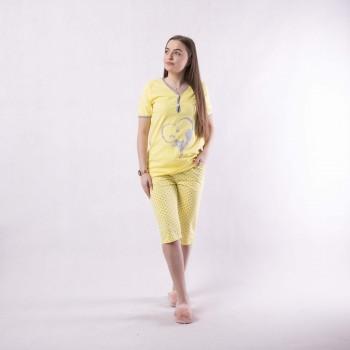 """Женская пижама футболка с бриджами """"Kat2"""" р. 40.44.56"""