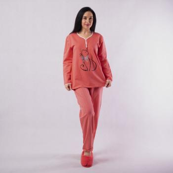 """Женская теплая пижама """"Кошка""""  р. 44-56"""