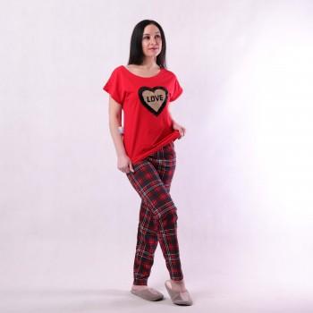 "Пижамный комплект футболка со штанами ""Red"" р. 42-54"