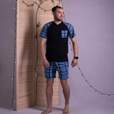 "Мужская летняя пижама футболка с шортами ""Джерси"" р.48-56"