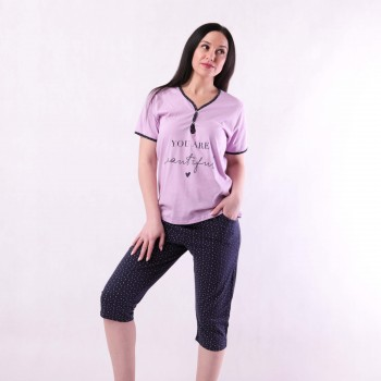 "Женская пижама футболка с бриджами ""Mary"" р.44-56"