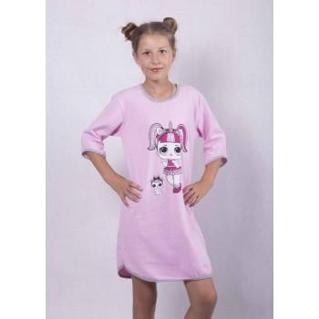 "Подростковая теплая ночная рубашка ""Lol"" р. 36-42"