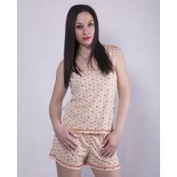 Женская трикотажная пижама майка с шортами р. 42-50