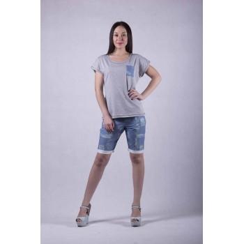 """Молодежный женский костюм """"Джинс+"""" р. 46-54"""