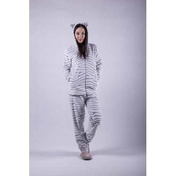 """Женская махровая пижама """"Шиншилла"""" р.40-56"""