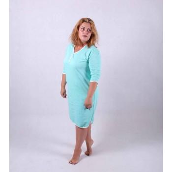 """Женская теплая ночная рубашка """"Бантик"""" р.52-64"""